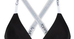 Modern cotton cross back triangle čierna športová podprsenka