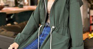 Zelená ľahká dámska bunda M416
