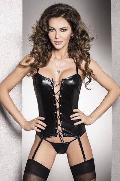 erotický korzet Bes black a nohavičky Astratex