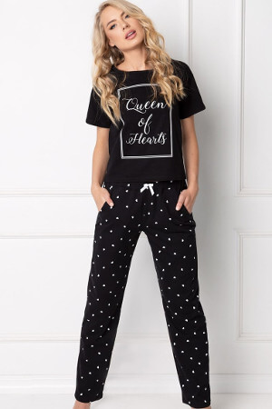 pekné hrejivé dámske pyžamo Hearty dlhé
