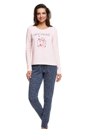 Bavlnený model pyžama Hearty