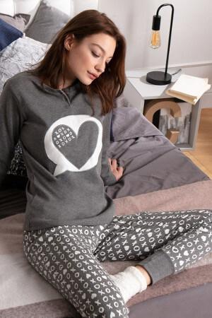Elegantné a teplé pyžamo na zimu Ticktack Toe