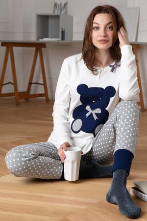Hrejivé bavlnené pyžamá Bear