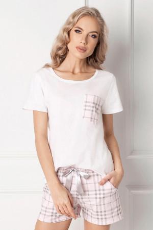 Pôvabné pyžamko s okrúhlym výstrihom Londie krátke