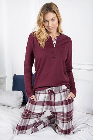 Pyžamo z bavlny s dlhým rukávom Zaffiro