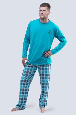 Tyrkysové pyžamo s dlhým rukávom 79045p