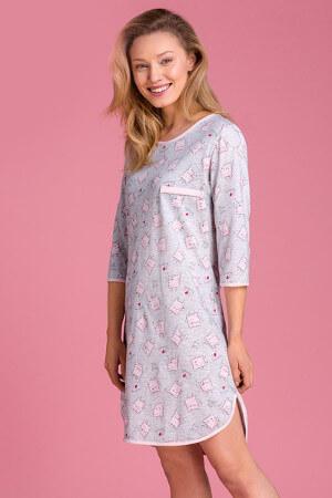 Vzorované sivé pyžamko PY135