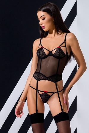 sexi erotické čierne korzety model Perdita má variabilné ramienka