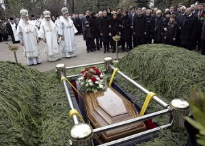 oblékání se na pohřeb