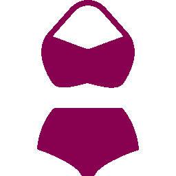 Plavky s vysokým pasem velikosti