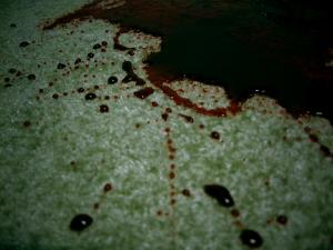 čištění krve na koberci