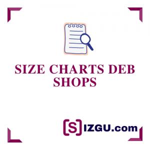 Size Charts Deb Shops