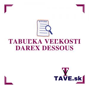Tabuľka veľkosti Darex DESSOUS
