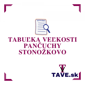 Tabuľka veľkosti pančuchy Stonožkovo
